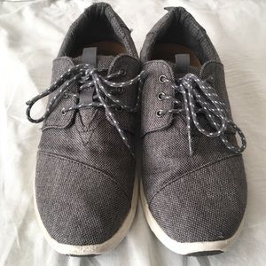 Toms Del Rey Steel Lace Up Canvas Sneakers